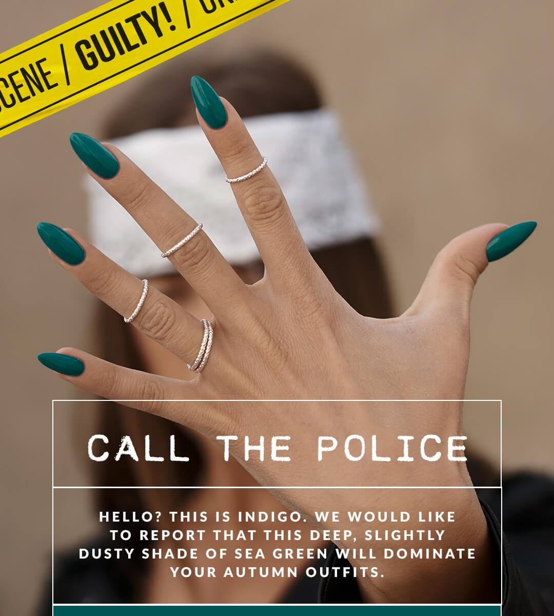 Call the police Indigo Nails