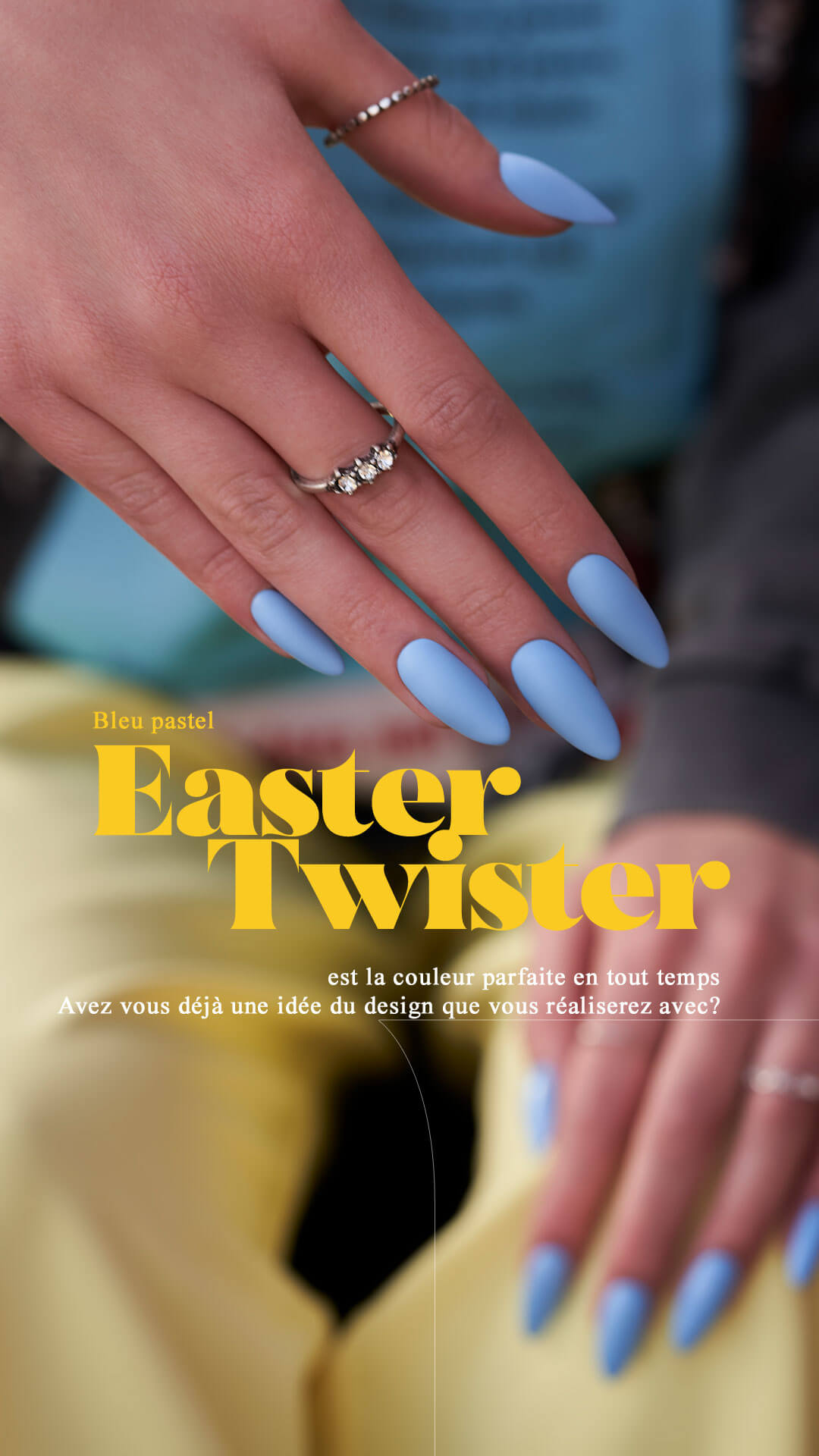Easter twister Indigo Nails
